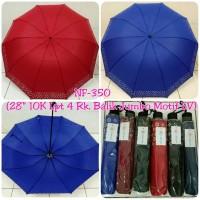 Payung 10jari JUMBO polos list LV