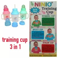 Botol Susu Ninio 3in1 / Training Cup 3 in 1 Ninio