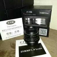 Lensa 7Artisans 25mm f1.8 black ,silver for Fujifilm x -7 artisan fuji