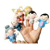 Boneka Jari Karakter Seri Keluarga / Family Finger Puppet 1 set 6 pcs