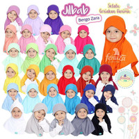 Jilbab Bergo Zara Bayi Balita Anak Kaos PE by Fenuza Size M