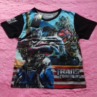 baju anak laki-laki pria Transformers kaos bagus imut