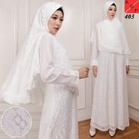 Baju Gamis Wanita / Gamis Jumbo / Muslim Putih #403 JMB