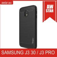 murah  case ipaky carbon samsung galaxy J3 pro 2017 sofcase series