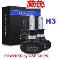 Lampu Mobil LED H3 Head Lamp S1 CSP Chips 6000K 50Watt 8000LM 12Volt