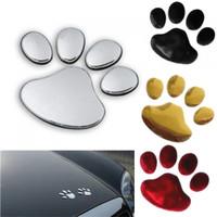 sticker 3d mobil stiker timbul emblem jejak kaki anjing