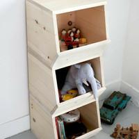 Rak Buku / Rak Mainan / Rak serbaguna Kayu Jati Belanda