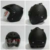 Termurah !!! Helm Black Doff Polos SNI Original THI Helmet - Hitam