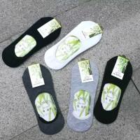 kaos kaki pendek serat bambu (bamboo socks, kaos kaki kesehatan)D002 - Hitam