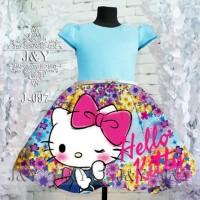 dress anak perempuan import hello kitty