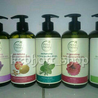 sabun cair body wash petal fresh organic bath & shower gel 475 ml