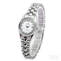 Jam Tangan Wanita Mirage Permata Silver Original