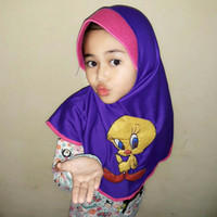Jilbab Anak Motif Kartun Sweety / Jilbab Sweety