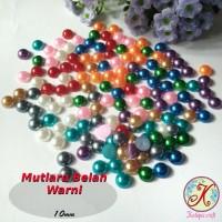 Mutiara Belah Warna 10mm mix per pack