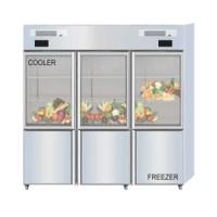 Combi Glass Door Cooler - Freezer Tipe Q1600-L6S