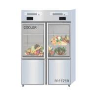 Combi Glass Door Cooler - Freezer Tipe Q1000-L4S