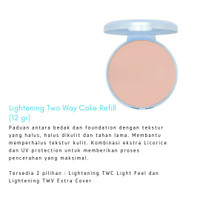 Wardah Lightening Two Way Cake Refill Light feel