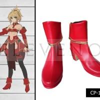 Sepatu Cosplay Fate Apocrypha Red Saber