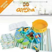 Anasha Faeyzah Puzzle Lunch Box Tempat Kotak Makan Anak Muslim