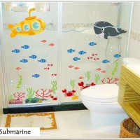 Wallsticker Wall Sticker Submarine Kapal Selam Dan Dunia Laut & Ikan