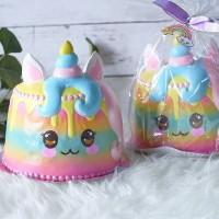 unicorn cake Squishy Licensed by punimaru (Squishy Kue Pelangi Jumbo)