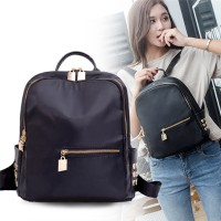 TR0088 Tas Ransel Polyester Studded Backpack dengan Lubang Earphone