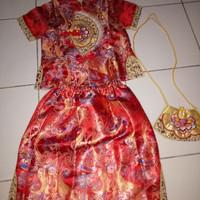 Baju Cheongsam Anak 6-8 tahun/Dress Xincia Anak/Baju Imlek Anak