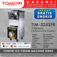 Mesin Es Krim 3 Tuas (RAINBOW ICE CREAM) TOMORI TIM-325SFR