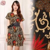 Dress Midi Batik Aini Short dress Wanita