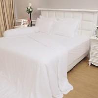 Bedcover saja tanpa sprei Vallery white king size