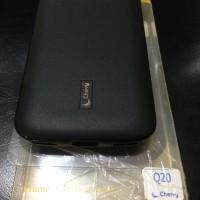 Cherry Silikon Jelly Case Free Antigores Blackberry Q20 Hitam