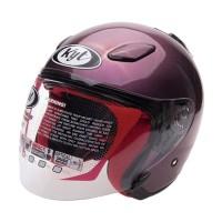 KYT DJ Maru Solid Helm Half Face - Deep Purple