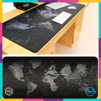Gaming Mouse Pad Motif Peta Dunia 300 x 600 mm