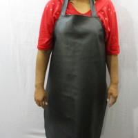 Apron / Celemek PVC (Synthetic Leather) Hitam Bahan Kulit Sintesis