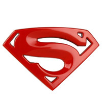 Emblem/Sticker/Stiker 3D Logo Superman/Hero Car/Mobil/Motor Metal