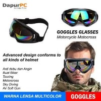 Kacamata Goggles Ski Helm Cross Trail Downhill Airsoftgun Anti Silau