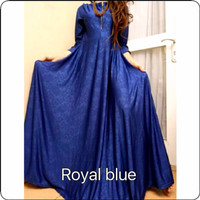 gamis jersey embos royal blue -D165