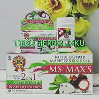 Ekstrak kulit manggis dan sirsak MS-MAX MS MAX ACE MAXS MURAH