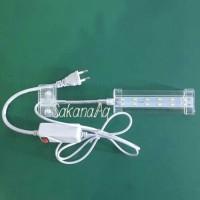 GOSEND Lampu Aquarium Jepit LED Yamano 3W Aquascape