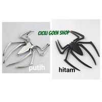 Stiker mobil motor spiderman stainless sticker emblem metal solid laba