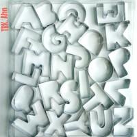 Cetakan Huruf Alphabet Stainless untuk Nugget Kue Kering 26's