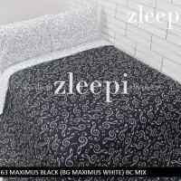 Sprei 200x200 Maximus Black mix White