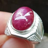Batu Cincin Natural Ruby Star 03