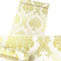 Damask luxury gold 45cm x 10mtr ~ Wallpaper dinding sticker