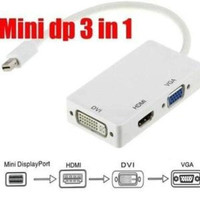 Kabel Mini DP Display Port To HDMI/DVI/VGA / Kabel Thunderbolt Mini DP