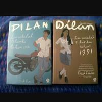 buku novel dilan 1990 dilan 1991 1 set 2 buku new