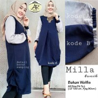 Atasan Blouse Wanita Baju Muslim Blus Muslim Milla Tuni Limited