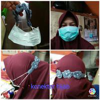 Konektor hijab rajut