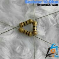 Resistor 10 Ohm Setengah Watt