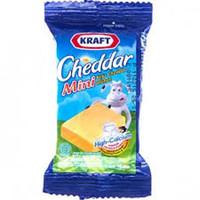 Keju KRAFT - CHEDDAR MINI - Kemasan Praktis & Ekonomis 35 gram
